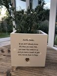 Personalised Shabby Chic Plant Pot AUNTIE gift AUNTY GREAT AUNT OR ANY NAME - 254324833141